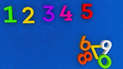 numbers education kindergarten