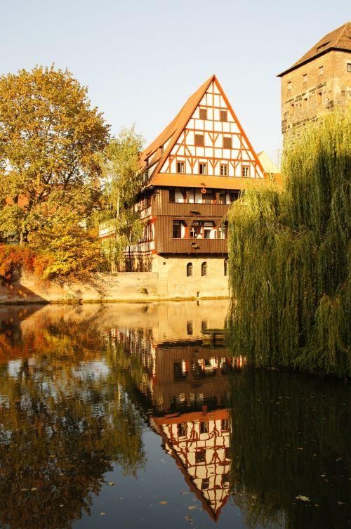 nuremberg pegnitz old town