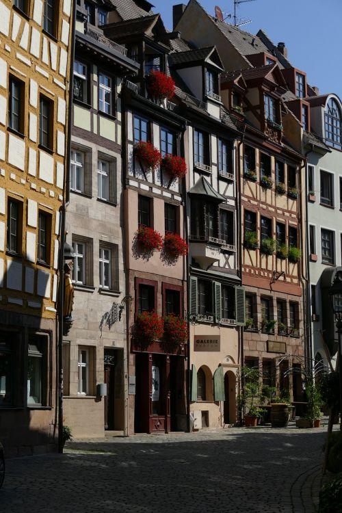 nuremberg old town weißgerbergasse