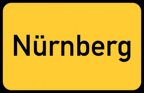 nuremberg nürnberg town sign