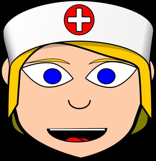 nurse face cartoon