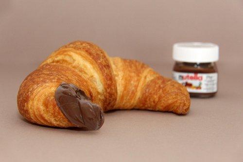 nutella  croissant  pleasure