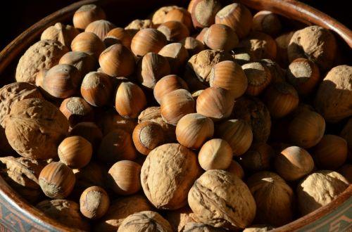 nuts hazelnuts walnuts