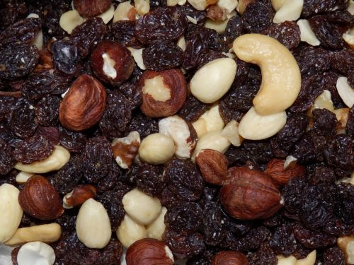 nuts dried fruit peanuts
