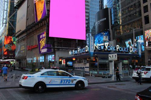 nypd, naujas & nbsp, York, policijos departamentas, kartus & nbsp, kvadratas, Manhatanas, nyc, usa, amerikietis, nypd kartus aikštėje, Niujorkas