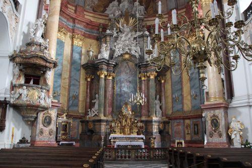nysa kłodzka church the interior of the