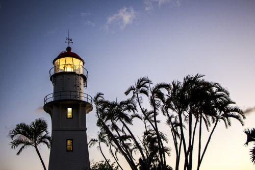 oahu lighthouse hawaii dusk