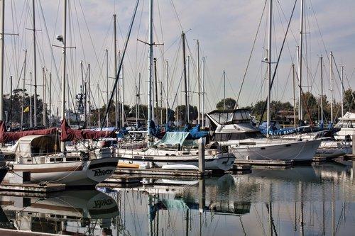 oakland marina  marina  boats docked