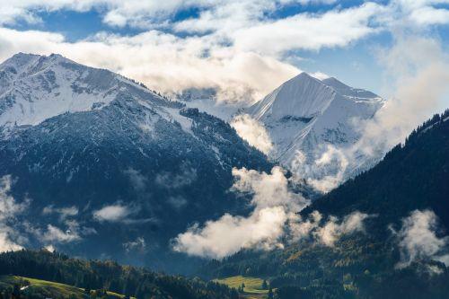 oberstdorf clouds mountains