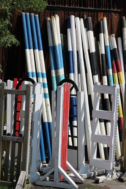 obstacle rods spring rods colorful