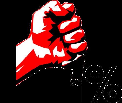 occupy revolution hand