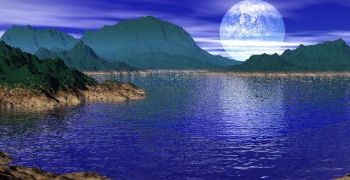 ocean moonlight island