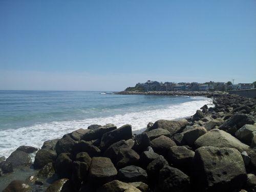 ocean water rocks