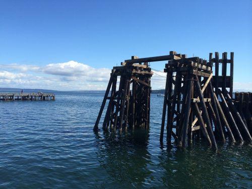 ocean pier port town