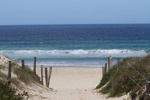 ocean sand walk