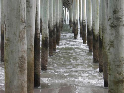 ocean dock pillars