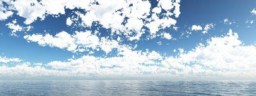 ocean  clouds  sky