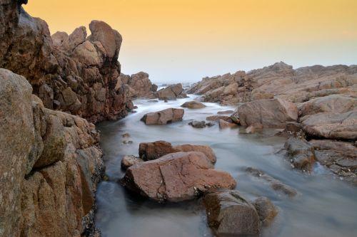 ocean tides rocks