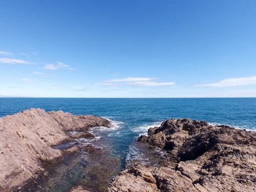 ocean view rock climbing climbing