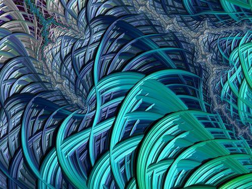 oceanic fractal turquoise