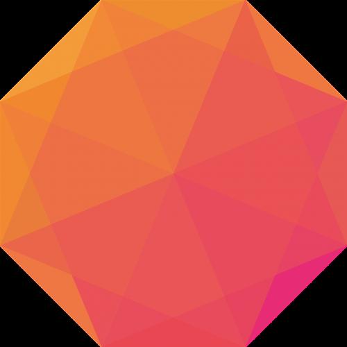 octagon shape colourful