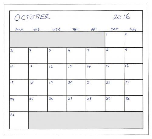 October  2016 Planner