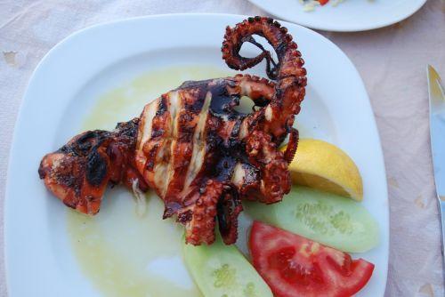 octopus grilled calamari