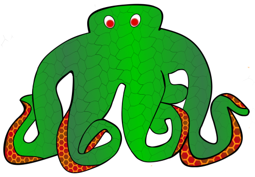 octopus monster deep sea