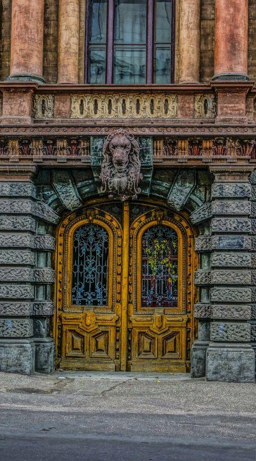 odessa the house of scientists door