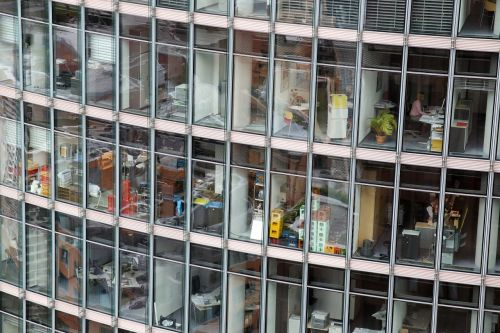 office office complex glass facade