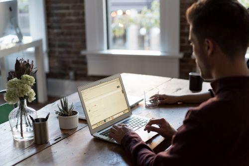 office office desk laptop