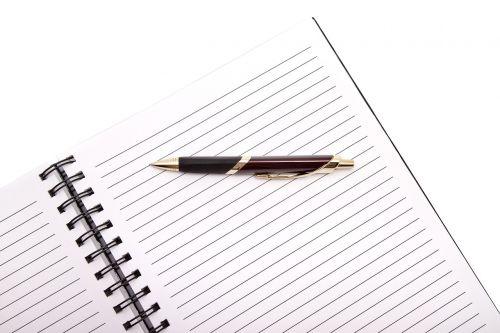 office pen notebook