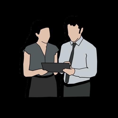 office digital tablet people