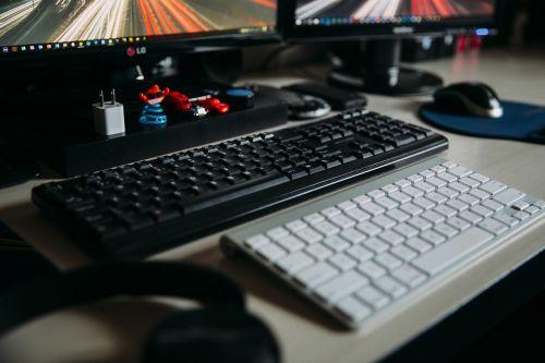 office desk keyboard