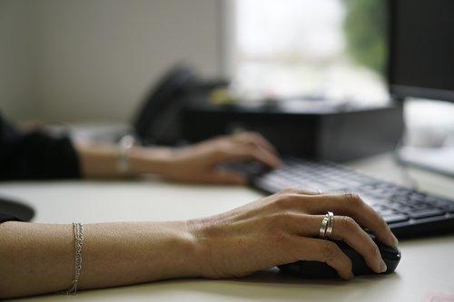 office  keyboard  hand