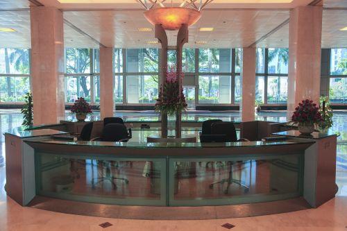 biuras, įmonės, lobis, priėmimas, stalas, verslas, patalpose, priekinis biuras
