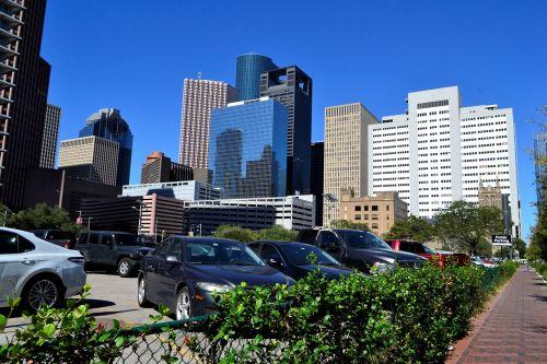 office buildings skyline houston