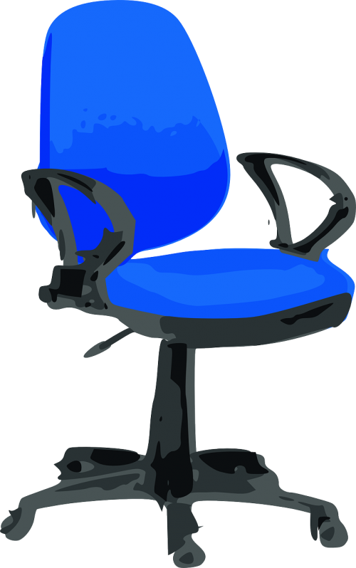 office chair blue chair