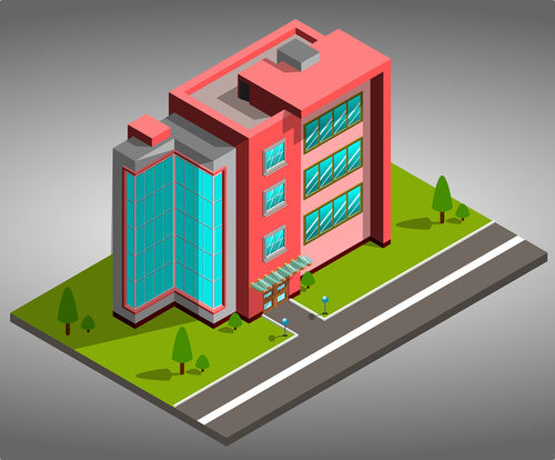 offices  3d  isometric