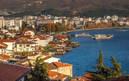 ohrid town city harbor