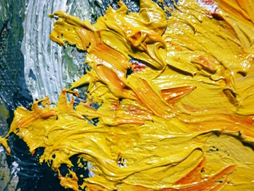 oil yellow painting