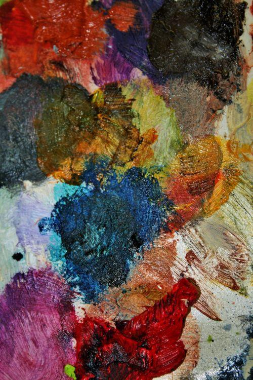 Oil Colours On Pallet