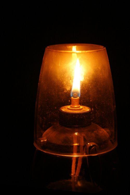 oil lamp wick flame