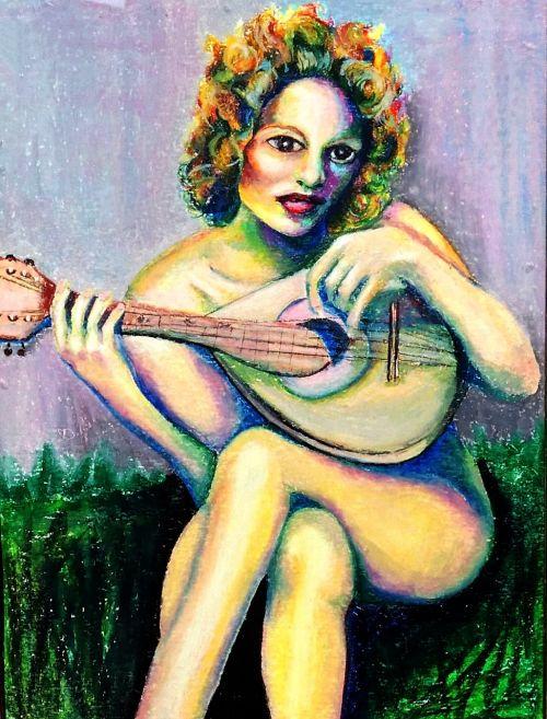 oil pastel artwork paper
