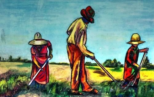 oil pastel paper artistic