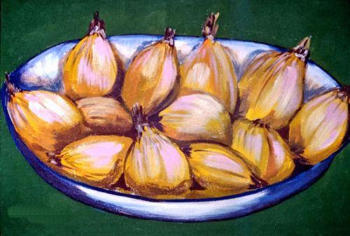 oil pastel onions creative paper