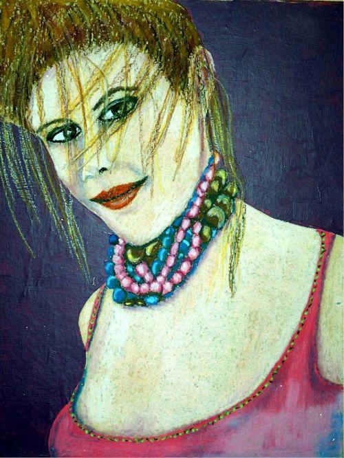oil pastel portrait paper artistic