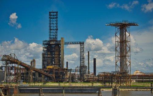 oil refinery  industry  oil