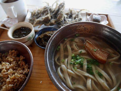 okinawa soba mozuku seaweed near okinawan cuisine