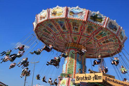 oktoberfest chain carousel blue sky